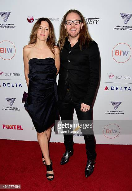 Composer Sarah Minchin and Sarah Minchin arrive at the 4th Annual Australians In Film Awards Benefit Dinner And Gala at InterContinental Hotel on...