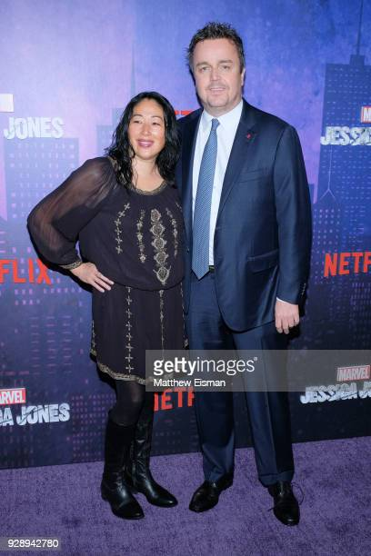 Composer Sean Callery and Debbie Dao attend the Jessica Jones Season 2 New York Premiere at AMC Loews Lincoln Square on March 7 2018 in New York City