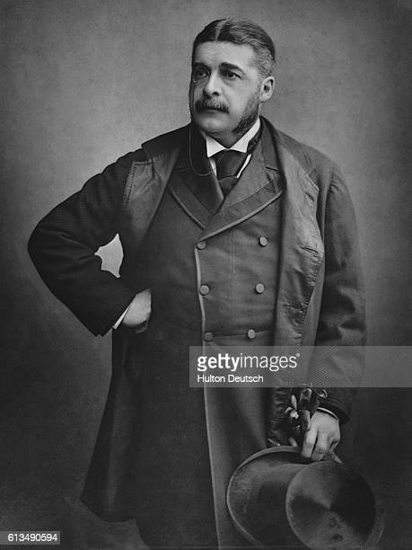 Composer Sir Arthur Sullivan famous for his series of comic operas written with librettist WSGilbert ca 1860