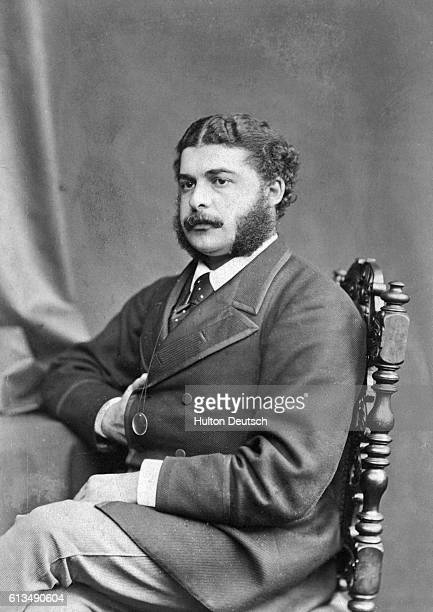 Composer Sir Arthur Sullivan famous for his series of comic operas written with librettist W.S.Gilbert, ca. 1860.