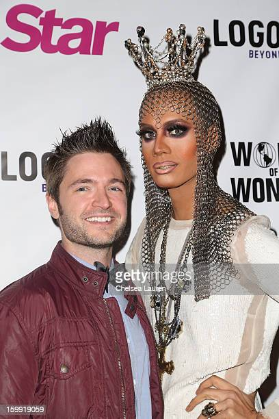 Composer / songwriter Lucian Piane aka RevoLucian and TV personality Raja Gemini arrive at 'Rupaul's Drag Race' season 5 premiere party at The Abbey...