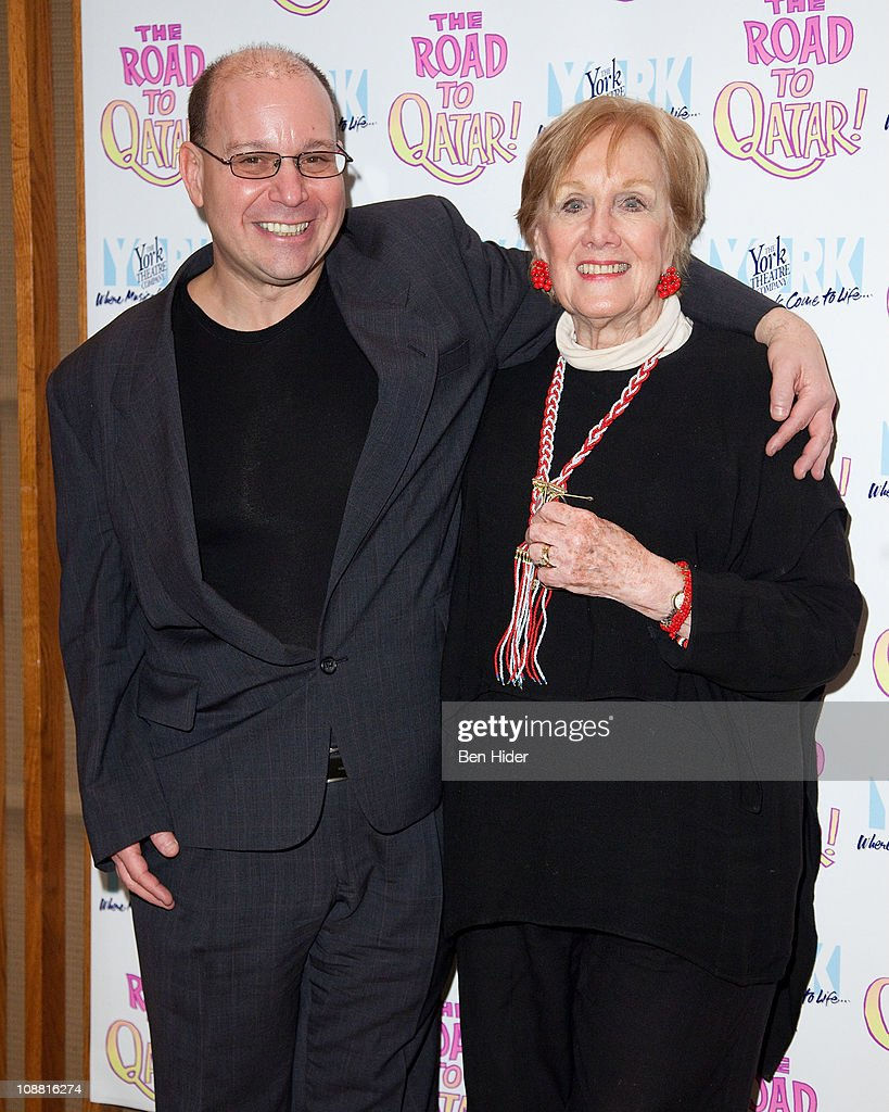 Composer Stephen Cole and Singer Marni Nixon attends the Off-Broadway opening night of 'The Road to Qatar' at The York Theatre at Saint Peter's on February 3, 2011 in New York City.