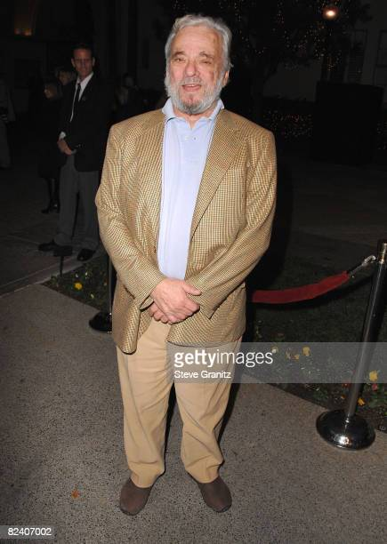 Composer Stephen Sondheim arrives at a special screening for DreamWorks Pictures' 'Sweeney Todd' at the Paramount Theater on December 5, 2007 in Los...