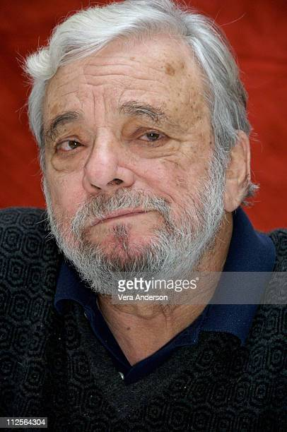 Composer Stephen Sondheim at 'Sweeney Todd The Demon Barber of Fleet Street' press conference at Claridges Hotel in London England on November 26 2007