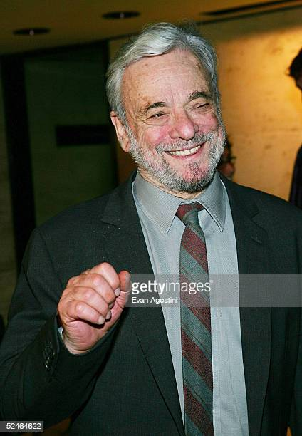 Composer Stephen Sondheim attends 'Children And Art' Honoring Stephen Sondheim's 75th Birthday postshow dinner at The Four Seasons on March 21 2005...