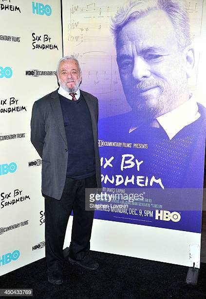 Composer Stephen Sondheim attends HBO's New York Premiere of 'Six by Sondheim' at Museum of Modern Art on November 18 2013 in New York City