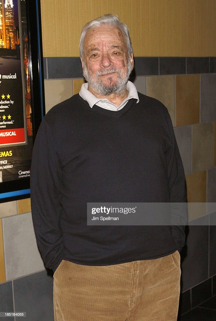 Composer Stephen Sondheim attends the 'Merrily We Roll Along' New York Premiere at Regal Union Square Theatre, Stadium 14 on October 17, 2013 in New York City.
