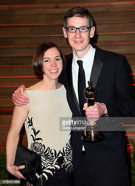 Composer Steven Price and wife Gemma Price attend the 2014 Vanity Fair Oscar Party hosted by Graydon Carter on March 2 2014 in West Hollywood...