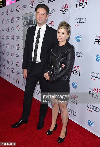 Composer Theo Green and Anina Pinter attend the screening of 'The Gambler' during the AFI FEST 2014 presented by Audi at Dolby Theatre on November 10...