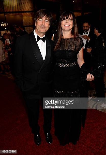 Composer Thomas Newman and Ann Marie Zirbes attend the 25th annual Palm Springs International Film Festival awards gala at Palm Springs Convention...