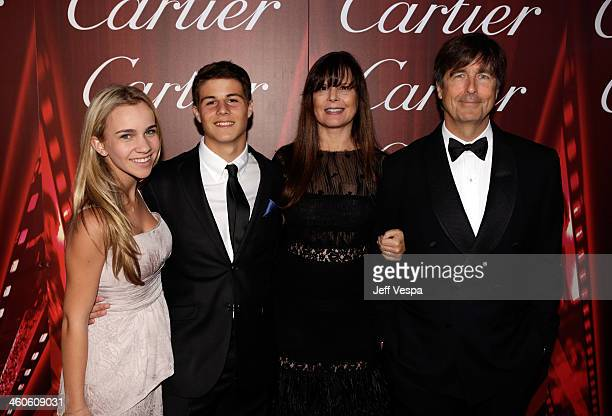 Composer Thomas Newman and Ann Marie Zirbes with children arrive at the 25th annual Palm Springs International Film Festival awards gala at Palm...