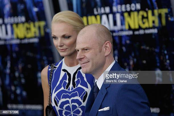 Composer Tom Holkenborg and Saskia Holkenborg arrives for the Run All Night New York Premiere at AMC Lincoln Square Theater on March 9 2015 in New...