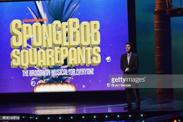 Composer Tom Kitt speaks onstage at the Nickelodeon Upfront 2018 at Palace Theatre on March 6 2018 in New York City
