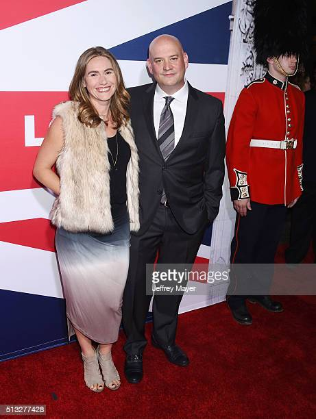 Composer Trevor Morris and his wife Zoe Morris attend the premiere of Focus Features' 'London Has Fallen' held at ArcLight Cinemas Cinerama Dome on...