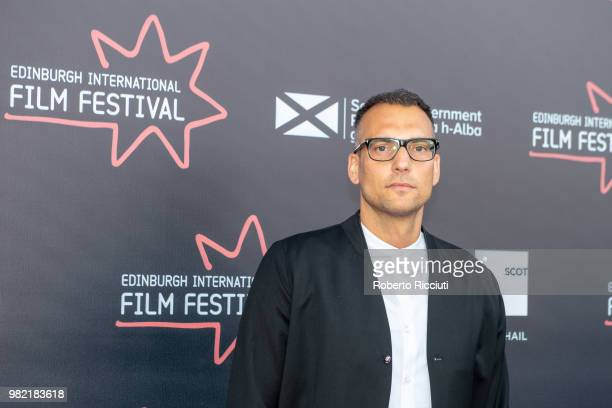Composer Walter Mair attends a photocall for the World Premiere of 'Lucid' during the 72nd Edinburgh International Film Festival at Cineworld on June...