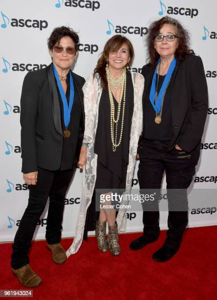Composer Wendy Melvoin AVP of Membership Loretta Munoz and Composer Lisa Coleman attend the 33rd Annual ASCAP Screen Music Awards at The Beverly...