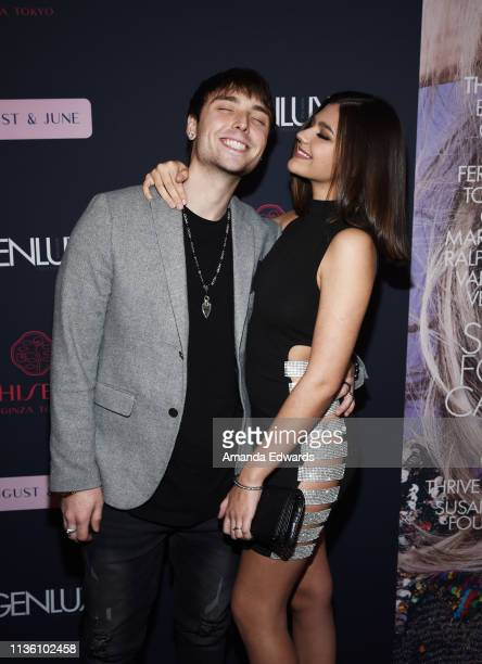 Composer Wesley Stromberg and actress Amber Frank arrives at the GENLUX Issue Release Party hosted by Kristin Cavallari and Carly Steel on March 15...