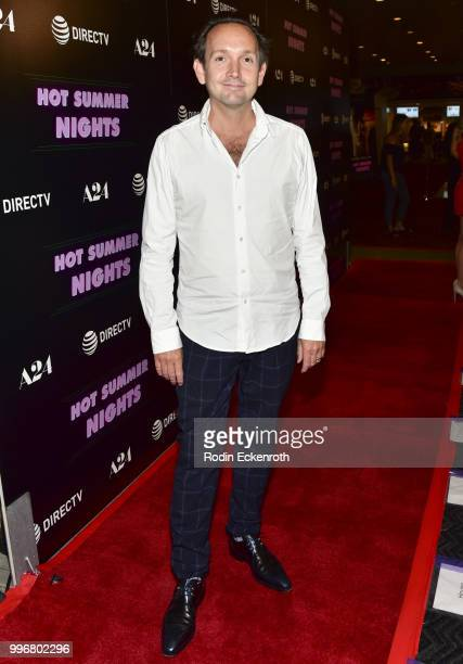 Composer Will Bates arrives at the screening of A24's 'Hot Summer Nights' at Pacific Theatres at The Grove on July 11 2018 in Los Angeles California