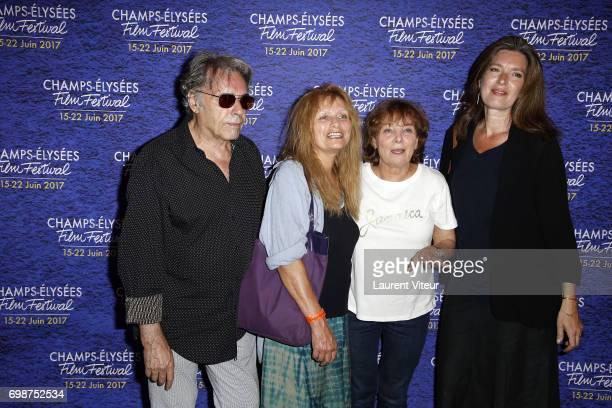 Composer Yves Simon Actress Odile Michel Director Diane Kurys and Actress Eleonore Klarwein attend Diabolo Menthe Retrospective at Cinema Le Publicis...