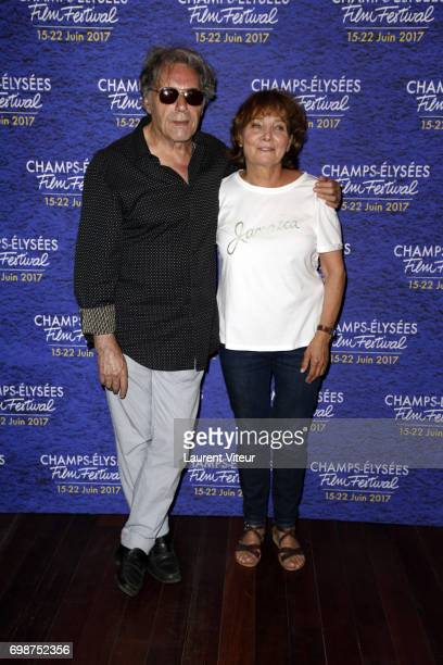 Composer Yves Simon and Director Diane Kurys attend Diabolo Menthe Retrospective at Cinema Le Publicis during the 6th ChampsElysees Film Festival on...