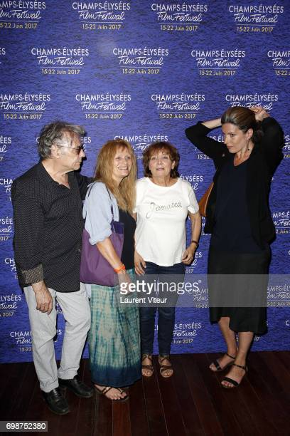 Composer Yves Simon Director Diane Kurys Actress Odile Michel and Actress Eleonore Klarwein attend Diabolo Menthe Retrospective at Cinema Le Publicis...