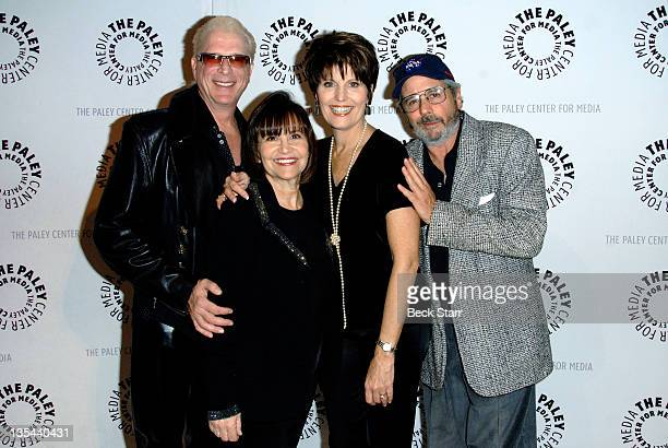 Composer/conductor Ron Abel moderator Sue Camerona Lucie Arnaz and Dezi Arnaz Jr attend The Paley Center for Media presents Tropicana Nights A Salute...