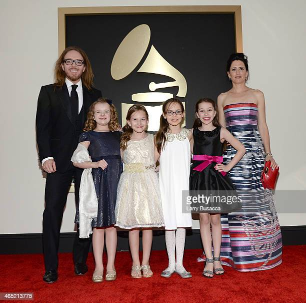 Composer/Lyricist Tim Minchin Milly Shapiro Sophia Gennusa Oona Laurence Bailey Ryon and Sarah Minchin attend the 56th GRAMMY Awards at Staples...