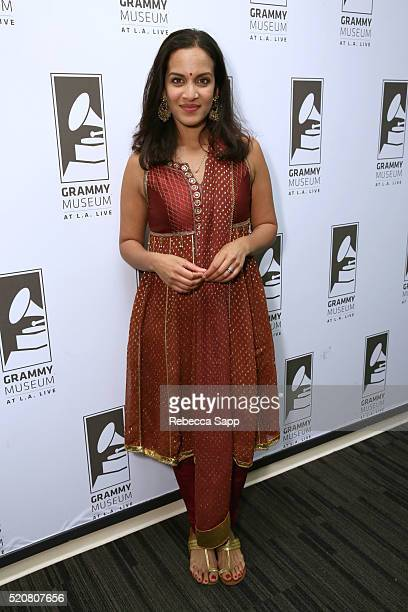 Composer/musician Anoushka Shankar attends An Evening With Anoushka Shankar at The GRAMMY Museum on April 12 2016 in Los Angeles California