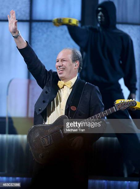 Composer/musician Hans Zimmer performs onstage during The 57th Annual GRAMMY Awards at STAPLES Center on February 8 2015 in Los Angeles California