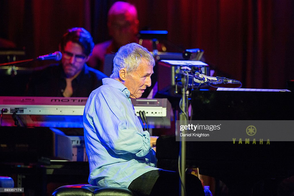 Composer/performer Burt Bacharach performs on stage at Belly Up Tavern on August 21, 2016 in Solana Beach, California.