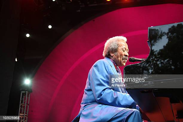Composer/pianist Allen Toussaint performs during the 32nd Celebrate Brooklyn Summer Season at the Prospect Park Bandshell on June 12 2010 in the...