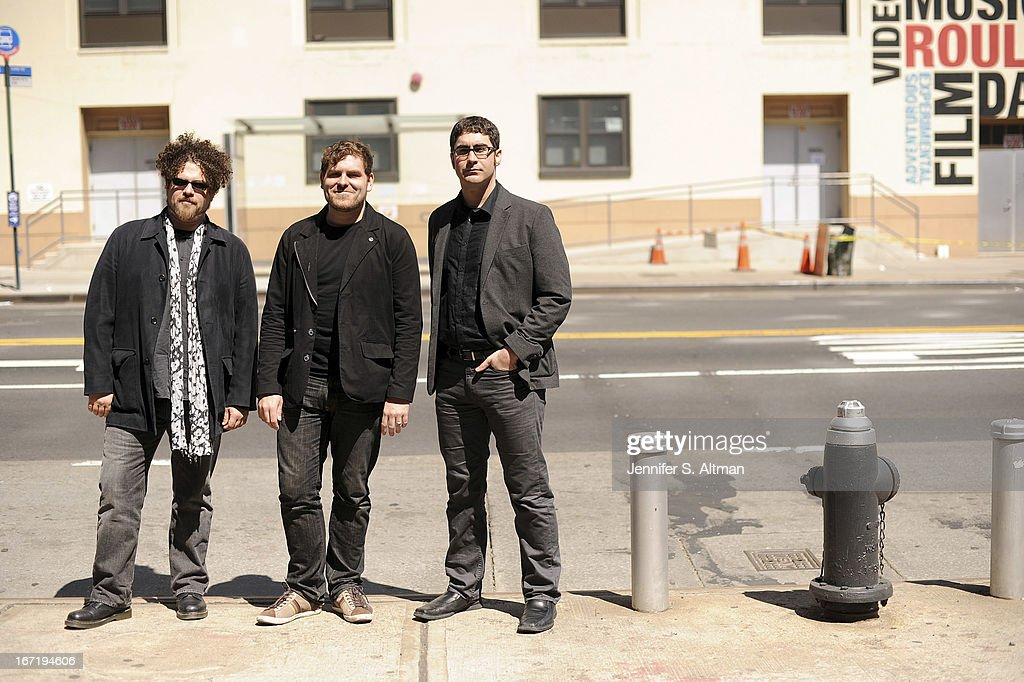 Composers and musicians David Little, Ted Hearne and Matt Marks are photographed for Los Angeles Times on April 6, 2013 in Brooklyn, New York.