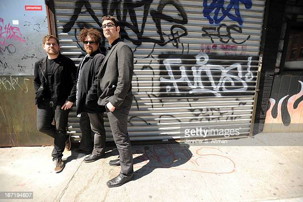 Composers and musicians David Little Ted Hearne and Matt Marks are photographed for Los Angeles Times on April 6 2013 in Brooklyn New York PUBLISHED...