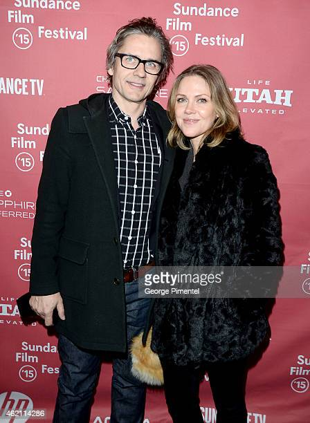 Composers Dean Wareham and Britta Phillips attend the Mistress America Premiere during the 2015 Sundance Film Festival at the Eccles Center Theatre...