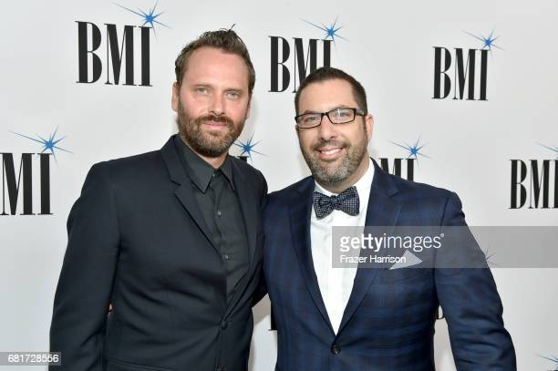 Composers Dustin O'Halloran and Christopher Lennertz at the 2017 Broadcast Music Inc Film TV Visual Media Awards at the Beverly Wilshire Hotel on May...