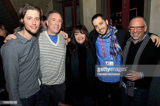 Composers Ludwig Goransson and Brian King BMI Executive Doreen RingerRoss musician Yotam Silberstein and composer Seth Kaplan attend the BMI Sundance...