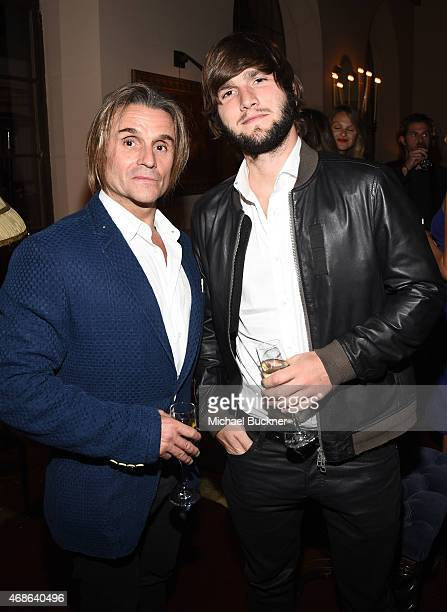 Composers Nacho Cano and Lucas Vidal attend the Variety and Formula E Hollywood Gala at Chateau Marmont on April 4 2015 in Los Angeles California