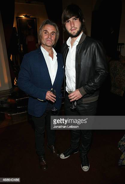 Composers Nacho Cano and Lucas Vidal attends the Variety and Formula E Hollywood Gala at Chateau Marmont on April 4 2015 in Los Angeles California