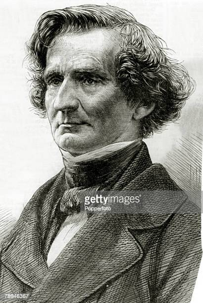 Composers Personalities Illustration from the Illustrated London News from 1869 pic circa 1860 Hector Berlioz French composer