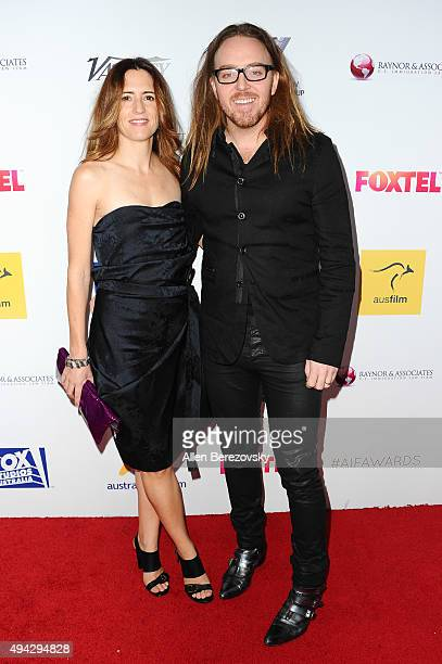 Composers Sarah Minchin and Tim Minchin attend the 4th Annual Australians in Film Awards Benefit Dinner and Gala at InterContinental Hotel on October...