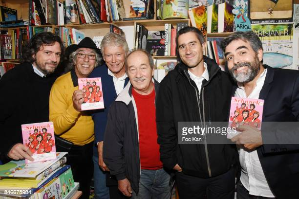Composer/singer Alister Jean Guy Fechner Richard Bonnot Jean Sarrus from Les Charlots band director Francois Ruffin and Schnock Magazine Co editor in...