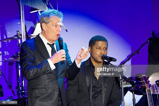 Composer/Songwriter David Foster and RB Performer Kenneth Babyface Edmonds perform at the 2014 Carosel Of Hope Ball Presented By MercedezBenz at The...