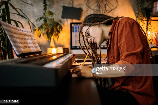 composing a new song - composer stock pictures, royalty-free photos & images