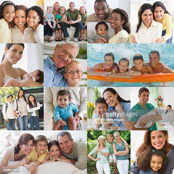 USA, Composite image of families