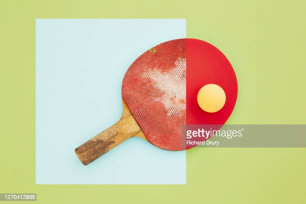 composite image of old and new table tennis bats - new stock pictures, royalty-free photos & images