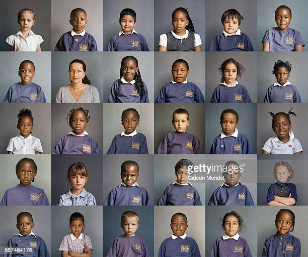 A composite image of portraits of every child in the Reception class at Kingsmead Primary School shows the remarkable diversity of the local...