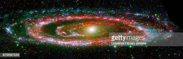 Composite image of the Andromeda galaxy from NASA's Galaxy Evolution Explorer and the Spitzer Space Telescope Dated 2003