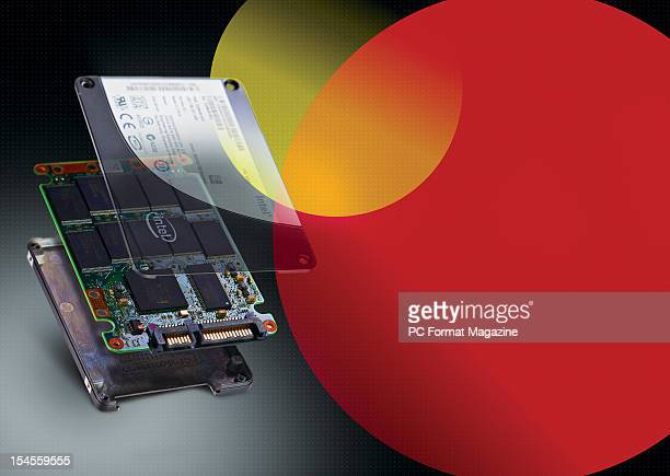 This image has been digitally manipulated Composite image showcasing the layers of a solid state drive taken on March 20 2012
