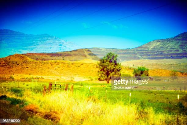 Composite image , western rural landscape
