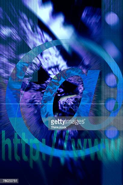 composite of at symbol with gear - thinkstock stock photos and pictures